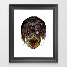 Heads of the Living Dead Zombies: Comic Book Zombie Framed Art Print