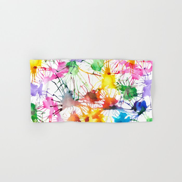 Watercolor Splashes Hand & Bath Towel