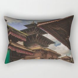 Architecture of Kathmandu City 002 Rectangular Pillow