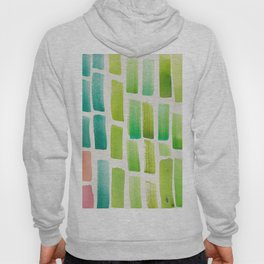 Stripe Green Blush    190213 Watercolour Abstract Painting Hoody