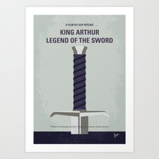 No751 My King Arthur Legend of the Sword minimal movie poster Art Print