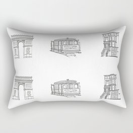 San Francisco Icons Rectangular Pillow