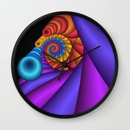 curly and colorful -2- Wall Clock