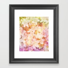 Azalea Flowers Framed Art Print