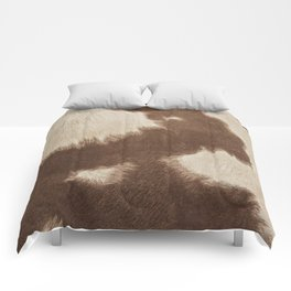 Cowhide Brown and White Comforters
