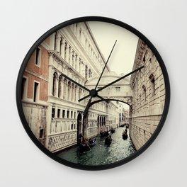 Bridge of Sighs I Wall Clock