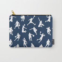 Basketball Players // Navy Carry-All Pouch