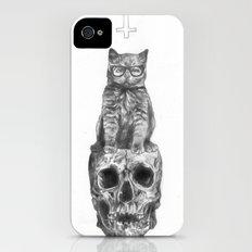 The Cat, The Skull, The Cross Slim Case iPhone (4, 4s)