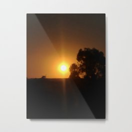 Sunset Inclusion Metal Print