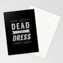 Dress Like Dead Stationery Cards