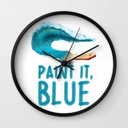 Paint It, Blue Wall Clock