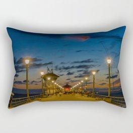Looking Down the Pier Rectangular Pillow