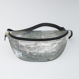 Abstract paint weathered chaotic wall texture material surface colorful digital illustration backgro Fanny Pack