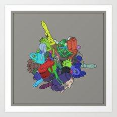 Drop Prop Mechanical Art Print