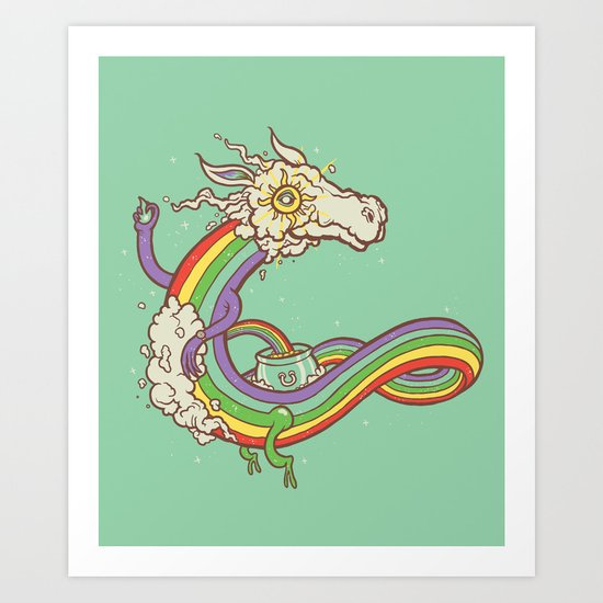At the end of a rainbow Art Print