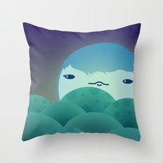 Moonlit Hills Throw Pillow