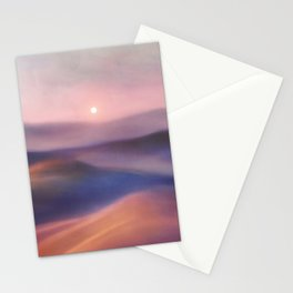 Minimal abstract landscape II Stationery Cards