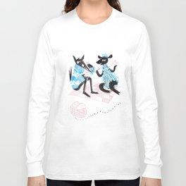 Wolf & Sheep (Go on a Date) Long Sleeve T-shirt