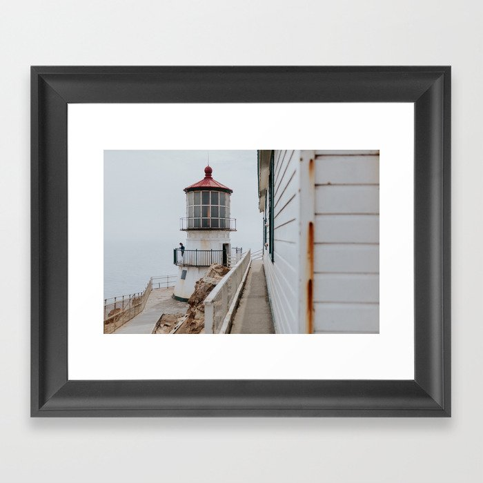 Point Reyes Lighthouse up close Framed Art Print
