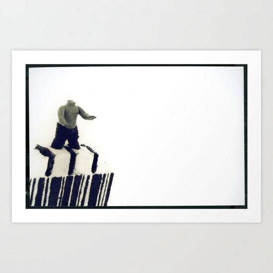 Stuck In a Hard Place   Bar Code Art Print