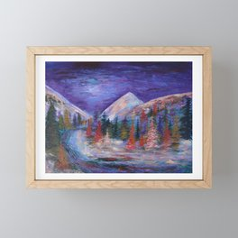 Crystal River, Gunnison National Forest Colorado Framed Mini Art Print