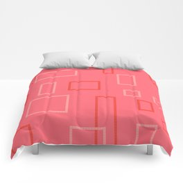 Shapes on Coral Comforters