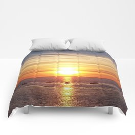 Gaspesie Sunset Comforters