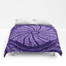 Ultra Violet Stone Tiles 18-3838 Comforters