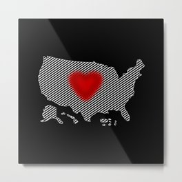 My Heart in the USA Metal Print