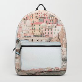 Positano, Italy Amalfi coast pink-peach-white travel photography in hd Backpack
