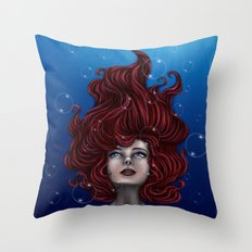 Tears of a Mermaid Throw Pillow