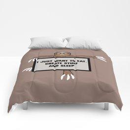 Eat, Create and Sleep Comforters