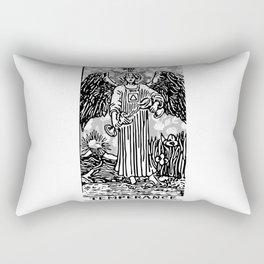 Temperance - A Floral Print Rectangular Pillow