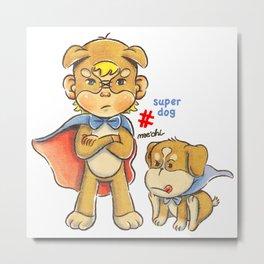 super kid & dog Metal Print