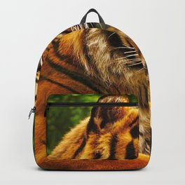 Impressive Noble Jungle Tiger Relaxing Profile Close Up Ultra HD Backpack