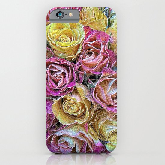 Vintage Paper Roses iPhone & iPod Case
