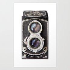 Vintage Autocord Camera Art Print