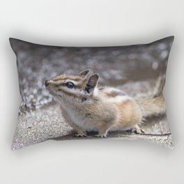 The Chipper Chipmunk Rectangular Pillow