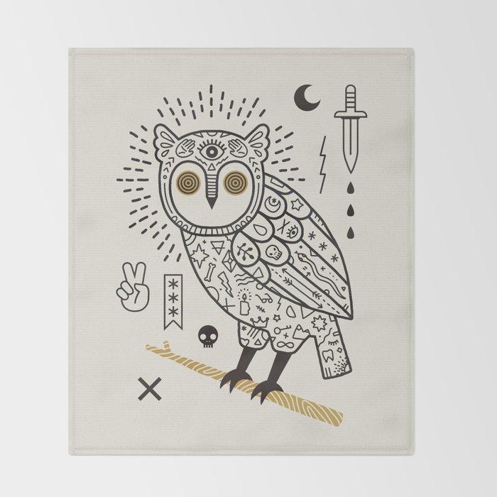 Hypno Owl Throw Blanket