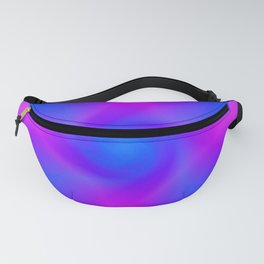 Blue Vortex Abstract Fanny Pack