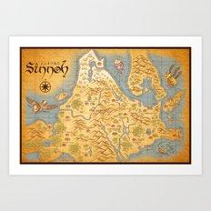 Sinnoh Map Art Print