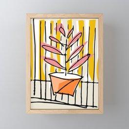 Summer Urban flowerpot Framed Mini Art Print