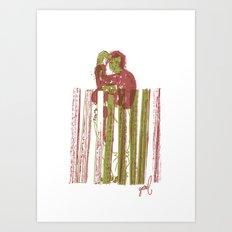 Billygoat with a blowtorch Art Print