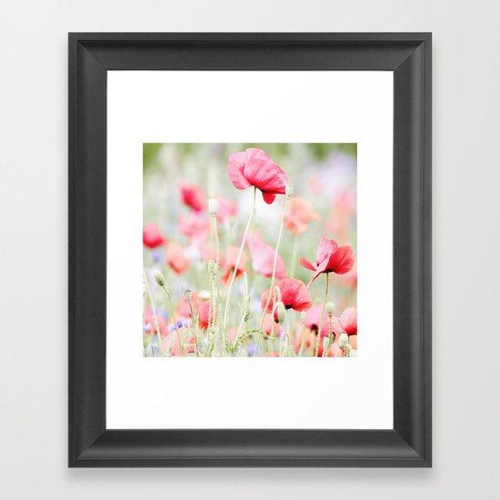 Poppy pastels Framed Art Print