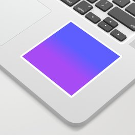 Neon Purple and Bright Neon Blue Ombré Shade Color Fade Sticker