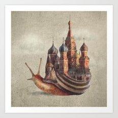 The Snail's Daydream Art Print