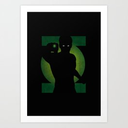 SuperHeroes Shadows : Green Lantern Art Print