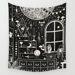 Moon Altar Wall Tapestry