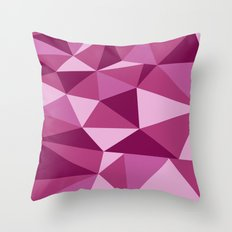 Pink Geometric Throw Pillow