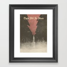 There will be blood - Alternative Movie Poster, Daniel Day Lewis, Paul Thomas Anderson, Paul Dano Framed Art Print